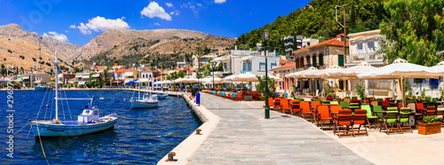 Idyllic traditional fishing villages of Greece - beautiful Lagkada in Chios island