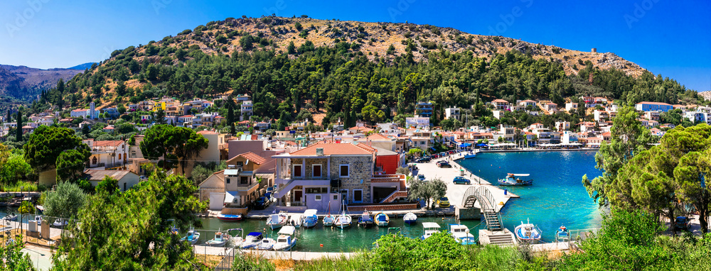 Fototapety, obrazy: Authentic traditional Greece - traditional fishing  village Lagkada in Chios island