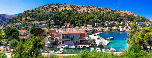 Authentic traditional Greece - traditional fishing village Lagkada in Chios island