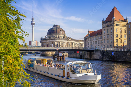 Wall Murals Ship sunny day in berlin, germany