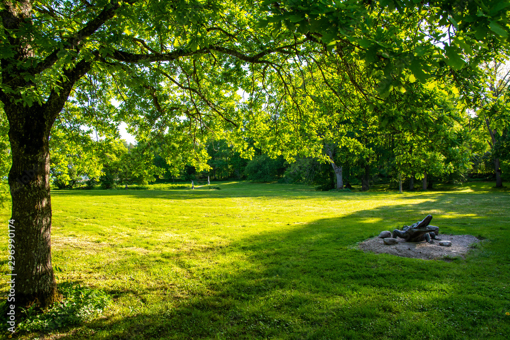 Fototapety, obrazy: Mustion Linna park view, Finland