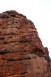 Leinwanddruck Bild - A beautiful view of Badami's sculpture.