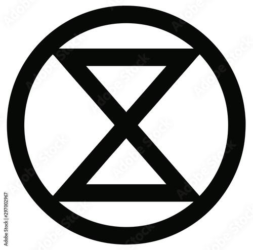 Fototapeta Extinction Rebellion Logo, Symbol