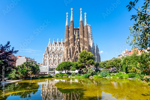 Sagrada Familia Cathedral in Barcelona, Spain Wallpaper Mural