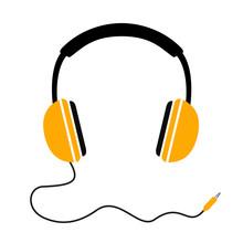 Headphones With Wave Cord Plug...