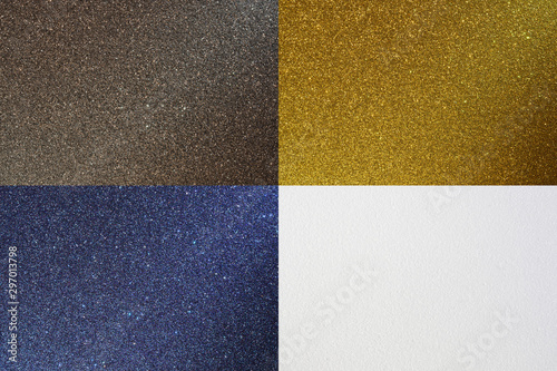Fotografie, Tablou  Set of backgrounds with silver texture