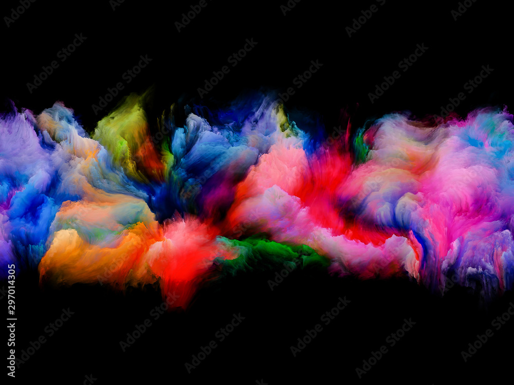 Fototapety, obrazy: Colorful Abstract Clouds