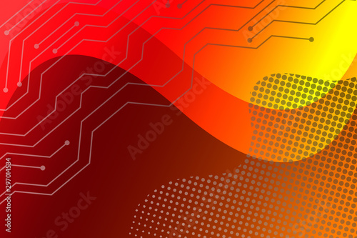 Door stickers Fractal waves abstract, orange, red, illustration, light, wallpaper, design, yellow, color, pattern, texture, art, graphic, backdrop, digital, lines, wave, backgrounds, colorful, summer, sun, bright, line, colors