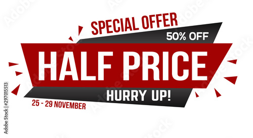 Fotomural  Half price banner design