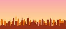 Cityscape Silhouette Urban Ill...