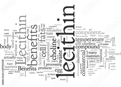 Valokuvatapetti Benefits of Lecithin