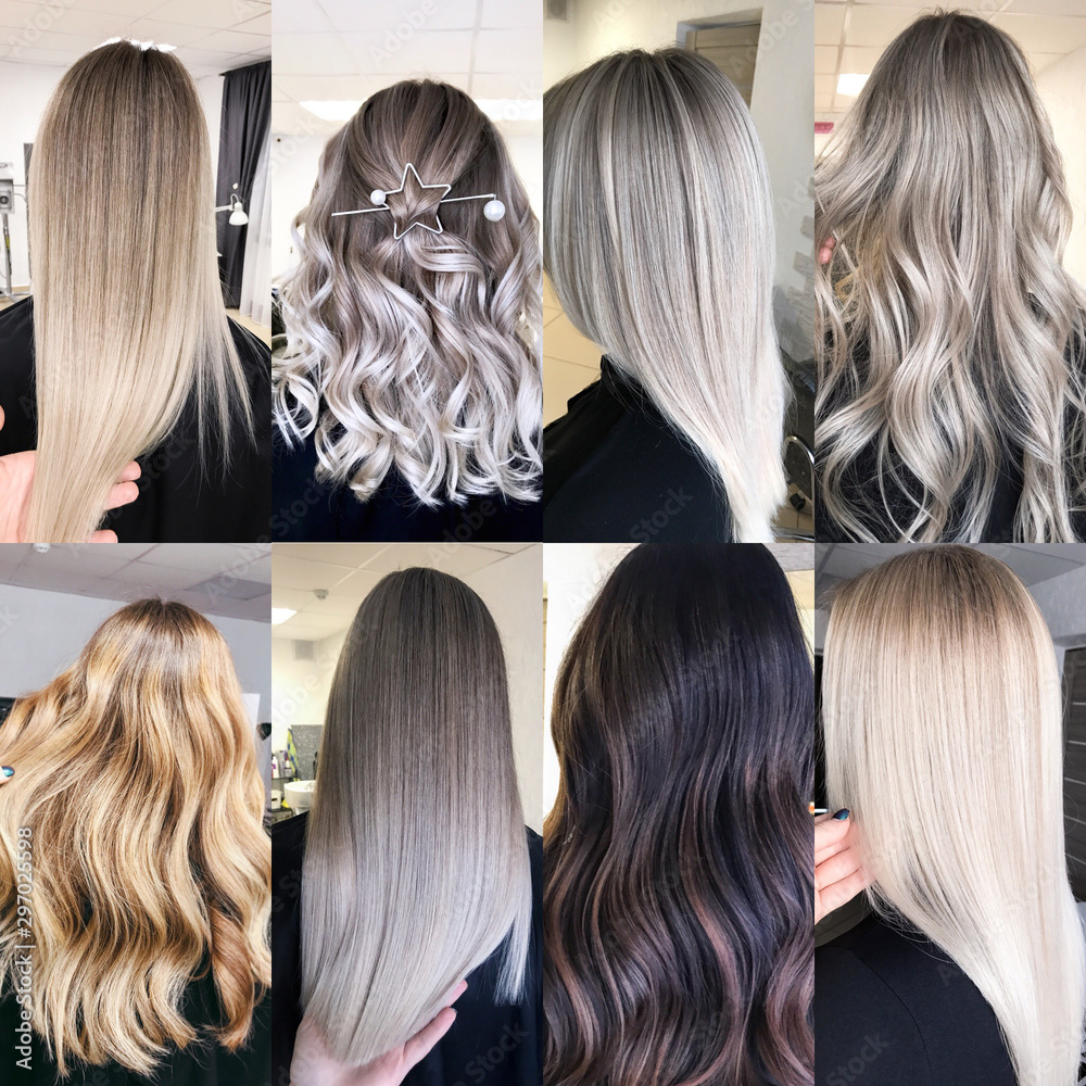Fototapety, obrazy: hair coloring many different options
