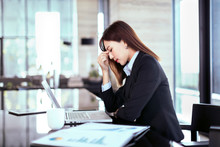 Tired And Stressed Business Wo...