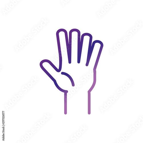 Fototapeta hand showing fingers charity help donation obraz na płótnie