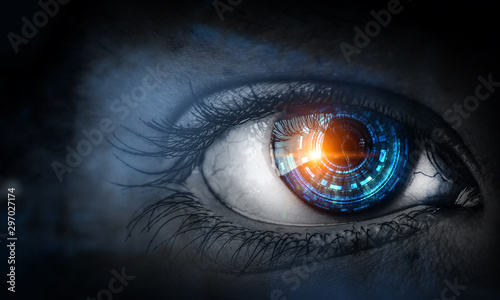 Canvastavla  Abstract high tech eye concept