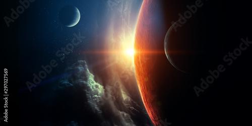 abstrakt-planety-i-astronautyczny-backgrou