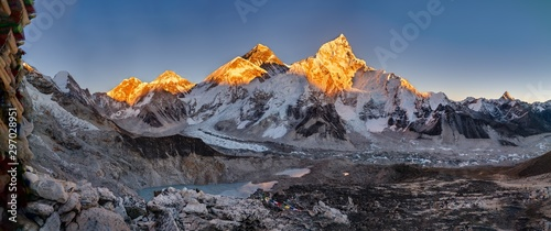 Panoramic shot of the Khumbu glacier and the Everest Poster Mural XXL