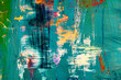 Leinwanddruck Bild - modern timeless multicolored abstract background