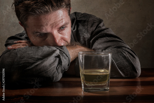desperate alcoholic man Wallpaper Mural