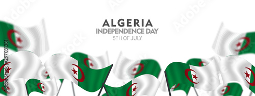 Independence Day of Algeria, posters, modern design vector illustration, 5 July Wallpaper Mural