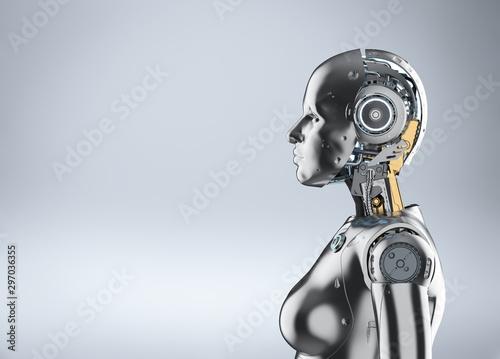 Female cyborg or robot Wallpaper Mural