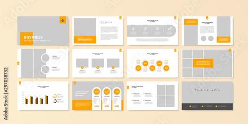 Fototapeta  Business minimal slides presentation background template