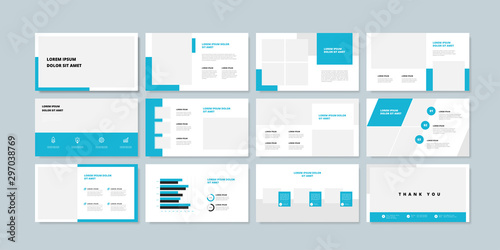 Fotografía  Business minimal slides presentation background template