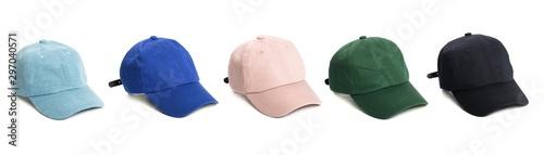 Stampa su Tela  Set of baseball cap or Working peaked cap