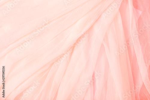 Obraz na plátně Soft pink coral beige Voile background