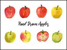Hand Drawn Apples