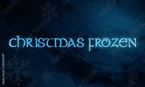 FONT FROZEN ON CHRITMAS NIGTH Canvas Print