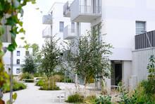 Sidewalk In A Cozy Courtyard O...