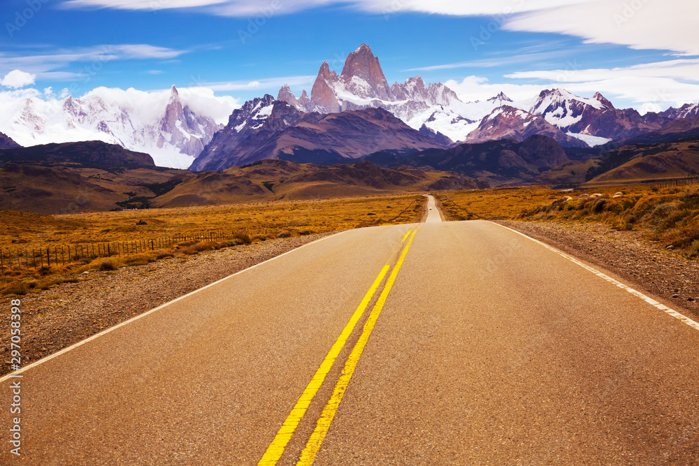 Fototapety, obrazy: Views from highway at peaks of Andes