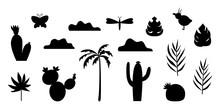 Vector Set Of Tropical Silhoue...