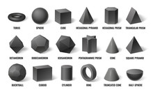 Realistic 3d Basic Shapes. Sph...
