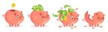 Cartoon Piggy Bank. Savings, B...