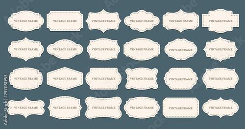 Foto  Vintage label frames