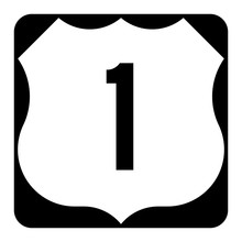 US Route 1 Sign