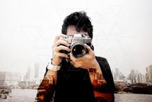 Asian Man Photographer With Ol...
