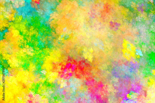 Fotobehang Fractal waves Abstract painting multicolor texture.