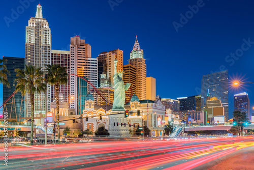 Las Vegas strip sunset Canvas Print