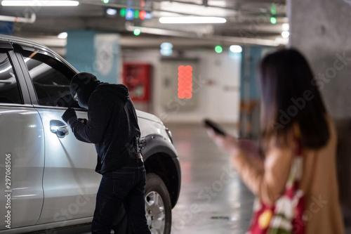 Cuadros en Lienzo Woman is calling the police