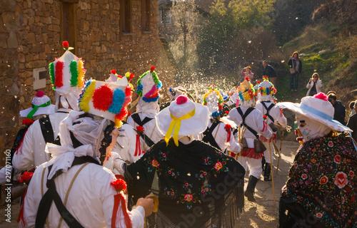 Almiruete Carnival, Guadalajara, Castilla la Mancha, Spain, Europe Fotobehang