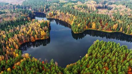 Fototapeta Do biura jesień na Warmii w północno-wschodniej Polsce