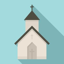 Rural Church Icon. Flat Illustration Of Rural Church Vector Icon For Web Design