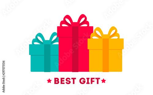 Obraz na plátně  Gift boxes icon, special present idea