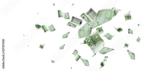 Fotomural  Euro money background