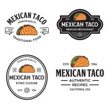 Set Of Taco Logo, Badges, Bann...