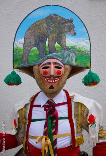 Laza Carnival, Orense, Galicia, Spain, Europe Wallpaper Mural