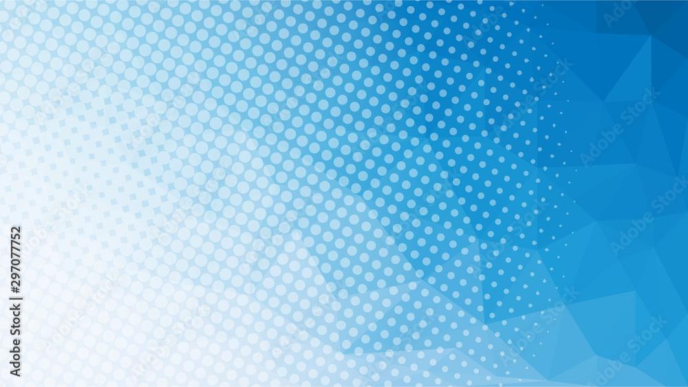 Fototapeta blue low poly geometric with halftone web page size background
